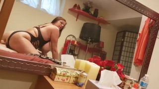 Carrie Moon – Stepmom jerks Son of on her ass